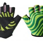ถุงมือเจลครึ่งนิ้ว QEPAE - Green