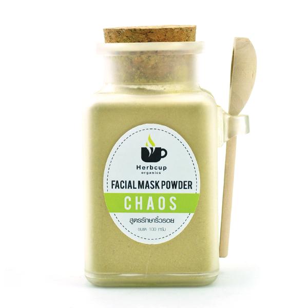 Herbcup : Facial Mask Powder Chaos ผงสมุนไพรพอกหน้า สูตรรักษาริ้วรอย ขนาด 100 กรัม