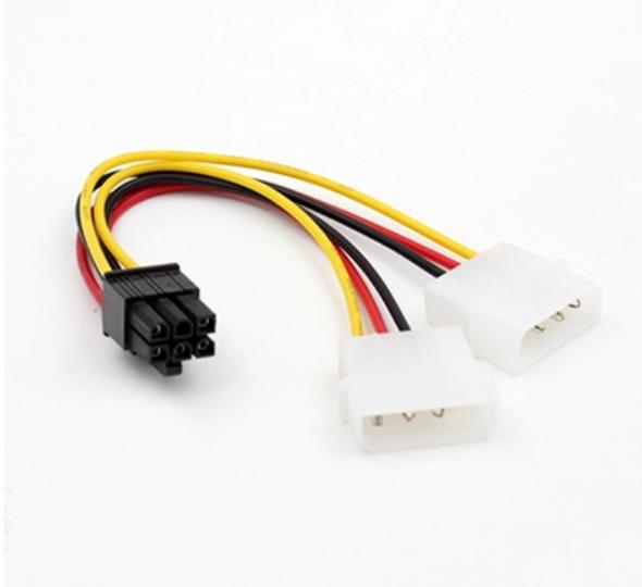[อุปกรณ์เสริม] สายแปลงไฟ IDE เป็น 6PIN ใช้กับการ์ดจอ PCI-E
