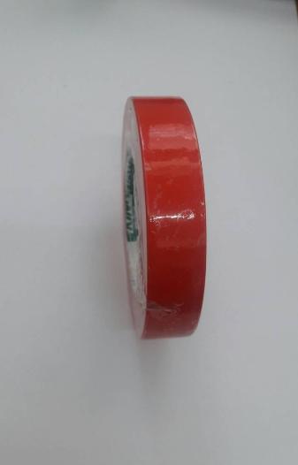 เทปตีเส้น Warning tape สีแดง กว้าง 1 นิ้ว ยาว 33 เมตร แบบมีกาว