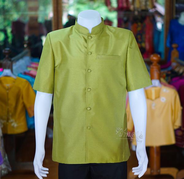เสื้อสูทไหมแพรทองคอพระราชทาน ไซส์ L