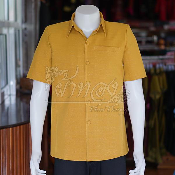 เสื้อสูทไหมแพรเงิน สีเหลืองทอง ไซส์ S