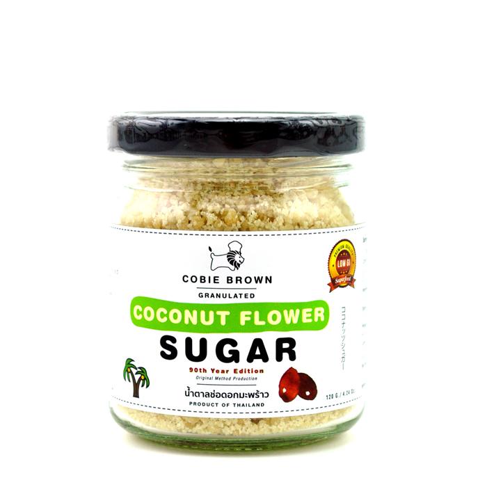 Cobie Brown : น้ำตาลช่อดอกมะพร้าว ออร์แกนิคแท้ 100% แบบกระปุก ขนาด 120 กรัม