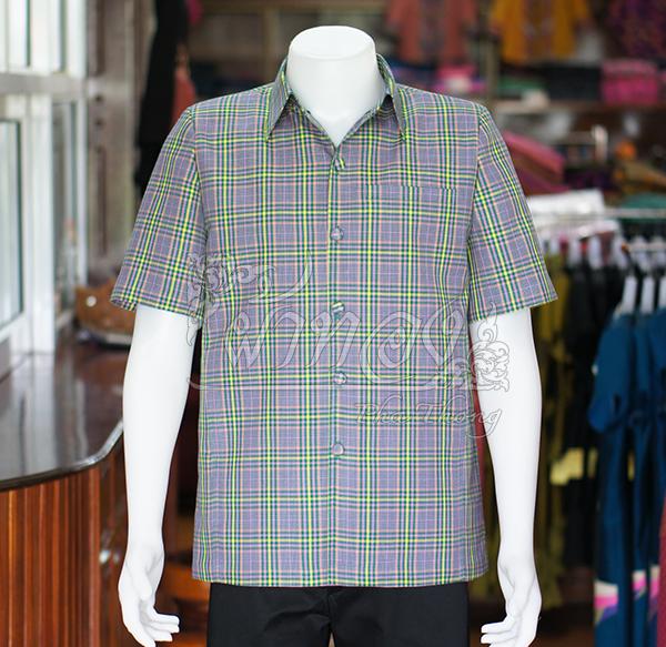 เสื้อสูทผ้าฝ้ายทอลายสก็อต ไซส์ 2XL