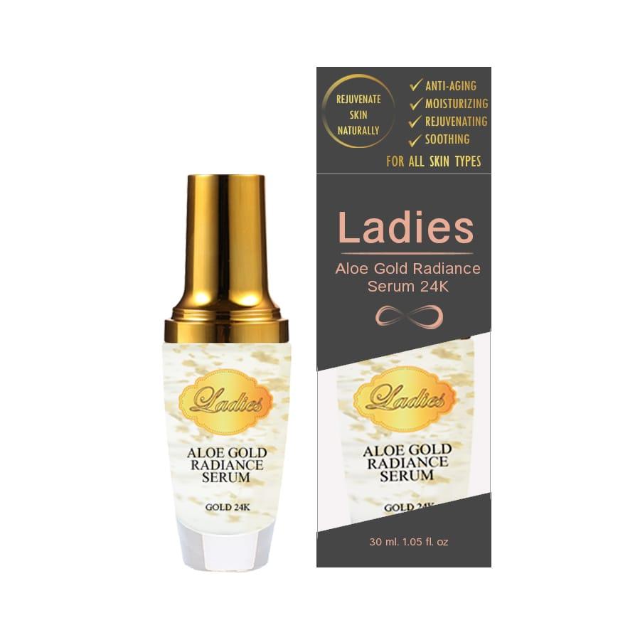 Ladies Aloe Gold Radiance Serum 30 ml. เซรั่มว่านหางจระเข้เข้มข้นผสมทองคำ 24K