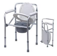C007 เก้าอี้นั่งถ่าย อลูมิเนียม พับได้ ปรับระดับได้