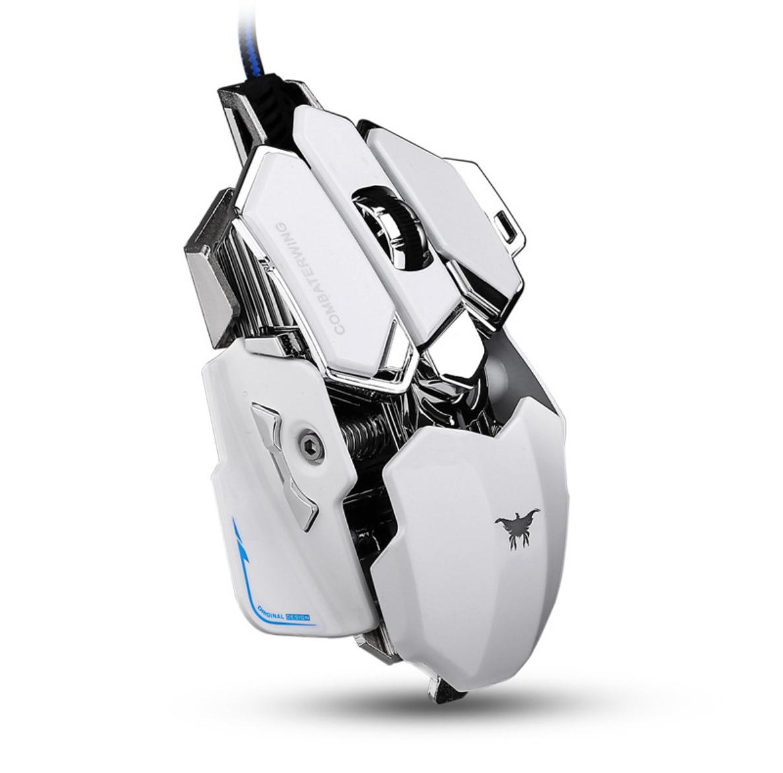 [อุปกรณ์เสริม] Gaming Mouse มาโคร CW-80 4800DPI เปลียไฟได้ 4 สี (ขาว)