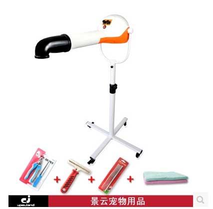 ไดร์เป่าร้อนขาตั้ง 2200 W King Wan Chunzhou Grooming dedicated vertical anion big hair styling hair dryer pet napping machine special