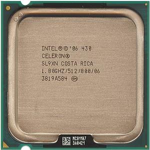 [775] Intel® Celeron® 430 แคช 512K, 1.80 GHz, 800 MHz FSB