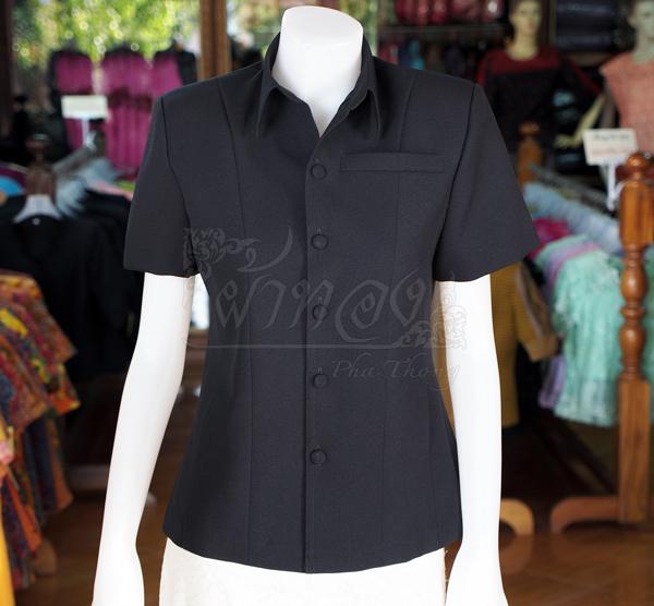 เสื้อสูทผ้าโอซาก้า สีดำ ไซส์ SS