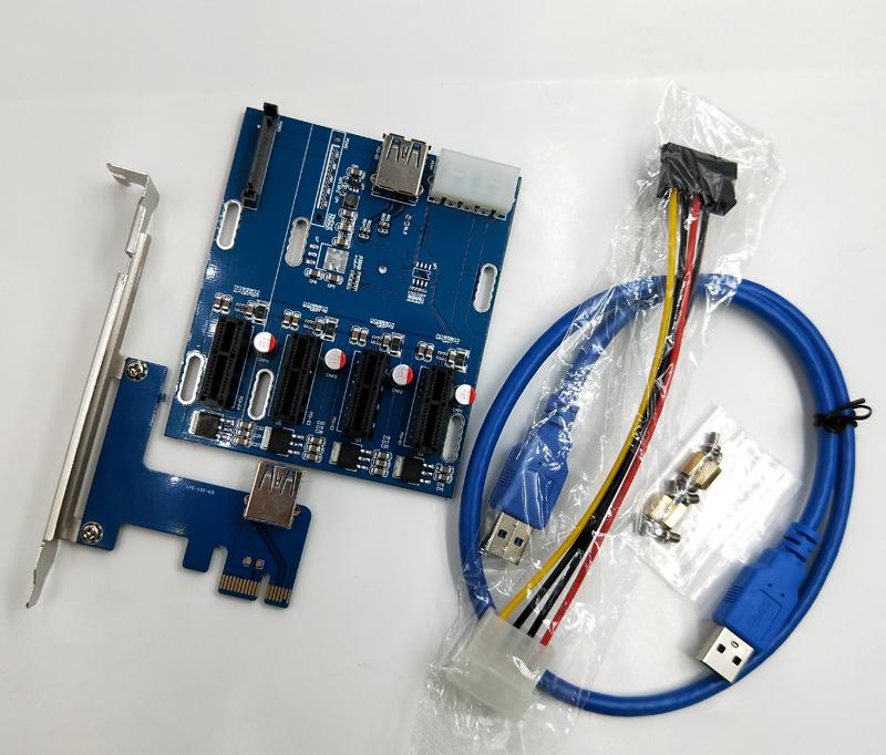ตัวเพิ่มช่อง PCI-E To PCI-E 4 Slot