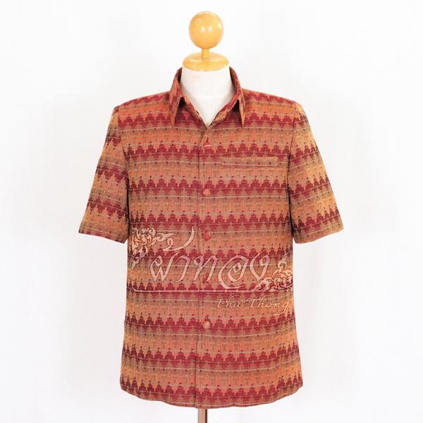 เสื้อสูทผ้าฝ้ายลายมัดหมี่สุโขทัย สีแดง ไซส์ S
