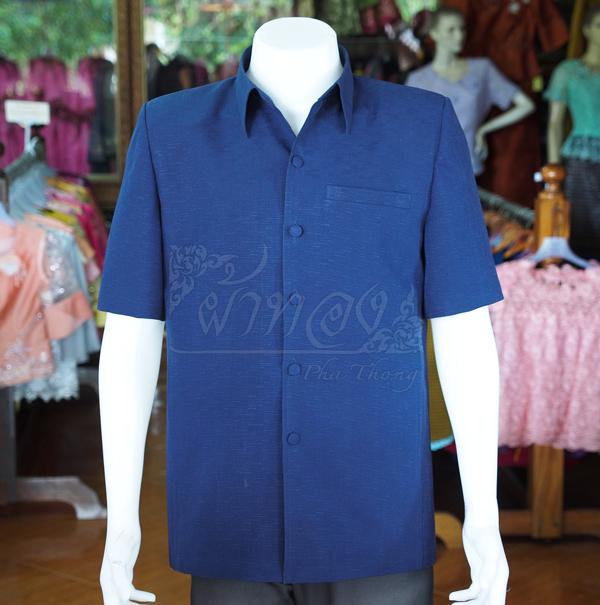 เสื้อสูทผ้าฝ้ายผสม สีกรมท่า ไซส์ S