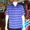 เสื้อสูทผ้าฝ้ายลายมัดหมี่สุโขทัย สีน้ำเงิน ไซส์ 2XL