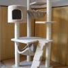 MU0079 คอนโดแมวสี่ชั้น ต้นไม้แมว มีบ้านอุโมงค์เบันได เปลนอน สูง 140 cm