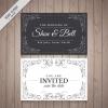 การ์ดแต่งงาน Wedding card สไตล์การออกแบบดีไซน์แบบใช้โทนสีดำขาวแล้วตกแต่งลวดลายด้วยลายเส้นอย่างสวยงาม การ์ดงานแต่ง ไว้สำหรับ เรียนเชิญแขกผู้มีเกียรติเข้ามาร่วมงานแต่งงาน // ตัวอย่างดีไซน์ การ์ดแต่งงาน การ์ดเชิญ การ์ดสวยๆ