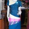 เดรสผ้าฝ้ายสุโขทัยแต่งผ้าทอหางกระรอก ไซส์ XL