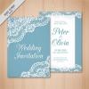 การ์ดแต่งงาน Wedding card สไตล์การออกแบบดีไซน์แบบใช้โทนสีฟ้าและตกแต่งกราฟิกที่ขอบการ์ดเป็นการเพิ่มความหรูหราให้กับการ์ดอีกด้วย การ์ดงานแต่ง ไว้สำหรับ เรียนเชิญแขกผู้มีเกียรติเข้ามาร่วมงานแต่งงาน // ตัวอย่างดีไซน์ การ์ดแต่งงาน การ์ดเชิญ การ์ดสวยๆ