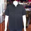 เสื้อเชิ้ตผ้าโอซาก้าสีดำ ไม่อัดผ้ากาว ไซส์ XL