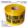 """เทปฝังใต้ดิน สีเหลือง Print """"CAUTION ELECTRIC LINE BURIED BELOW """" กว้าง 15 ซม.(6นิ้ว) ยาว (305 เมตร) สำเนา"""