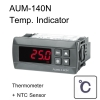 WOOREE AUM-140N Thermometer indicator with NTC -40C - (+99.9 C)