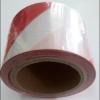 เทปกั้นเขต สีขาว-แดง กว้าง 7 ซม. ( 3 นิ้ว ) ยาว 200 เมตร ไม่มีกาว