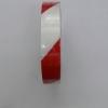 เทปตีเส้น Warning tape สีขาว-แดง กว้าง 1 นิ้ว ยาว 33 เมตร แบบมีกาว
