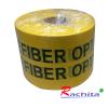 """เทปฝังใต้ดิน สีเหลือง Print """"CAUTION FIBER OPTIC CABLE BURIED BELOW"""" กว้าง 15 ซม.(6นิ้ว) ยาว (305 เมตร)"""