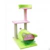คอนโดแมวสามชั้น ต้นไม้แมว ที่นอน อุโมงค์หน้าแมว และมีของเล่นแขวน ที่ปีนออกกำลังกาย สีเขียวอ่อน