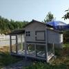 บ้านส่วนตัวของสัตว์เลี้ยงlสำเร็จรูป 2 ชั้น หลังคาจั่ว