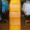 ผ้าถุงป้าย ลายศิลามณี สีเหลือง เอว 34 นิ้ว