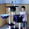 MU0056 คอนโดแมวห้าชั้น ต้นไม้แมว มีบ้านอุโมงค์ กระบะนอน ของเล่นแขวน สูง 150 cm