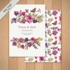 การ์ดแต่งงาน Wedding card สไตล์การออกแบบดีไซน์โดยใช้สีขาวสีพื้นและจัดตกแต่งด้วยดอกไม้สีม่วงทำให้ดูลงตัวสวยงาม การ์ดงานแต่ง ไว้สำหรับ เรียนเชิญแขกผู้มีเกียรติเข้ามาร่วมงานแต่งงาน // ตัวอย่างดีไซน์ การ์ดแต่งงาน การ์ดเชิญ การ์ดสวยๆ
