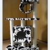 MU0082 คอนโดแมวสามชั้น ขนาดกระทัดรัด ต้นไม้แมว มีบ้านอุโมงค์ อุโมงค์ สูง 90 cm