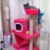 MU0055 คอนโดแมวสามชั้น ต้นไม้แมว มีบ้านอุโมงค์ เปล ของเล่นแขวน สูง 105 cm