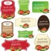 ฉลากอาหาร ของกิน สไตล์การออกแบบดีไซน์แบบใช้สีสันสดุดตา ฉลากไว้ใช้แปะกับแพคเกจบรรจุมะเขือเทศสด // ตัวอย่างดีไซน์ สติ๊กเกอร์ฉลาก Chill Shop Package