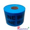 """เทปฝังใต้ดิน underground tape สีฟ้า Print """"CAUTION WATER LINE BURIED BELOW """" กว้าง 15 ซม.(6นิ้ว) ยาว (305 เมตร)"""