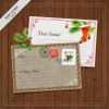 โปสการ์ด Postcard สไตล์การออกแบบดีไซน์แนววินเทจเหมาะกับเทศกาลวันคริสมาส โปสการ์ด ไว้สำหรับ ส่งบทความถึงคนสำคัญ // ตัวอย่างดีไซน์ โปสการ์ด Postcard พิมพ์โปสการ์ด โปสการ์ดสวยๆ Chill Shop Package