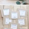 ไอเดียสำหรับการพิมพ์ สติ๊กเกอร์ฉลากสินค้า // สไตล์การออกแบบ ดีไซน์เรียบๆ ฉลากใช้สำหรับ แปะกับซองกระดาษ