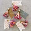 ไอเดียสำหรับการพิมพ์ ป้ายกระดาษ // สไตล์การออกแบบดูด๊หรูหรา และเพิ่มลูกเล่นด้วยเชือกหลากสี ทำให้ดูโดดเด่นสวยงาม ป้ายกระดาษใช้สำหรับ ห้อยแขวนสินค้า ห้อยแขวนของขวัญ ป้ายเสื้อ