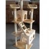 MU0067 คอนโดแมวหกชั้น ขนาดใหญ่ ต้นไม้แมว มีบ้านอุโมงค์ ของเล่นแขวน บันได สูง 188 cm