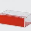 กล่องทิชชูอครีลิค แบบเสียบข้าง 2 สี