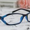 แว่นตาแฟชั่นเกาหลี สีฟ้าดำ (พร้อมเลนส์)