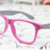 แว่นตาแฟชั่นเกาหลี โรสเทาลายจุด (ไม่มีเลนส์)