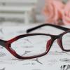 แว่นตาแฟชั่นเกาหลี สีแดงดำ (พร้อมเลนส์)