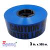เทปฝังใต้ดิน สีน้ำเงิน ตัวอักษรสีดำ CAUTION BURIED WATER LINE BELOW กว้าง 75 mm. (3 in.) x ยาว 305 เมตร