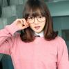 แว่นตาแฟชั่นเกาหลี สีน้ำตาล (พร้อมเลนส์)