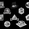 ฉลากสำหรับตกแต่ง สไตล์การออกแบบดีไซน์แบบเรียบๆแต่มีสไตล์ ฉลากไว้ใช้แปะกับรถยนต์เพื่อการตกแต่ง // ตัวอย่างดีไซน์ สติ๊กเกอร์ฉลาก Chill Shop Package