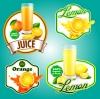 ฉลากอาหาร ของกิน สไตล์การออกแบบดีไซน์แบบใช้สีสันสดุดตา ฉลากไว้ใช้แปะกับแพคเกจกล่องน้ำผลไม้รสส้ม,ขวดน้ำผลไม้ // ตัวอย่างดีไซน์ สติ๊กเกอร์ฉลาก Chill Shop Package