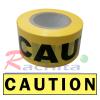 """เทปฝังใต้ดิน PE แบบหนา สีเหลือง Print """" CAUTION """" กว้าง 3 นิ้ว ยาว 100 เมตร"""